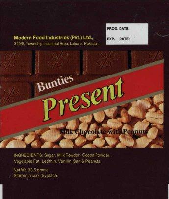 Pakistan and Bangladesh chocolate wrappers