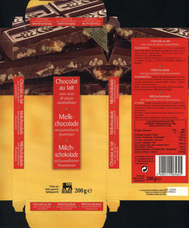 belgian chocolate wrappers delhaize