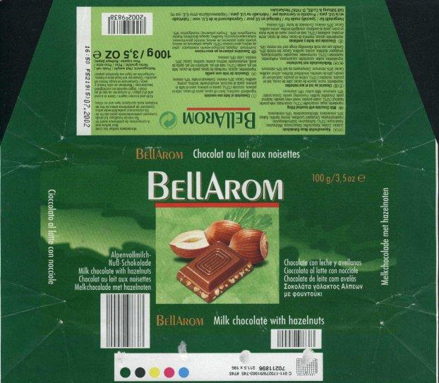 german chocolate wrappers bellarom
