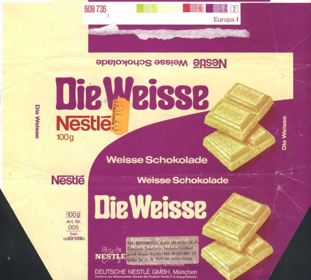 Nestle Crunch White German chocolate wrapp...