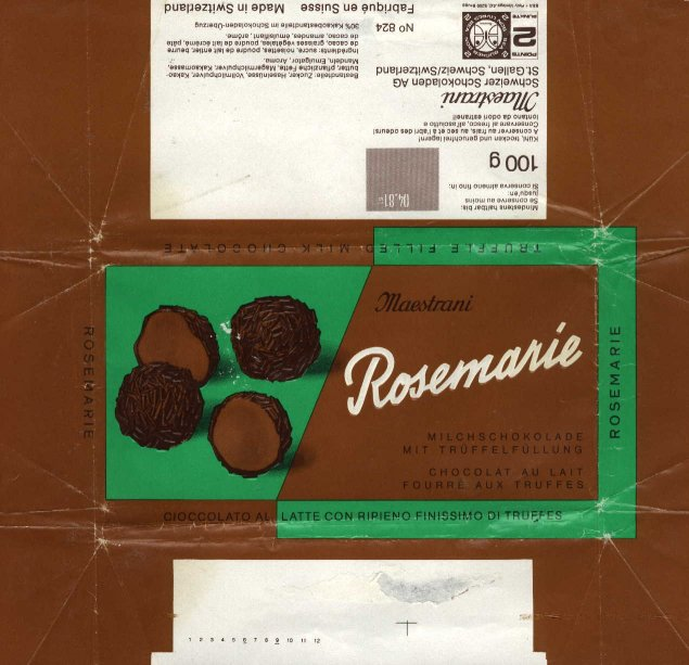 S 60 >> Swiss chocolate wrappers Maestrani